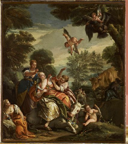 NG 2721 Painting The Rape of Europa Giovanni Battista Tiepolo; after Veronese
