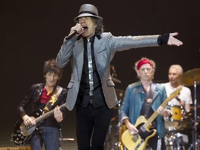 Mick Jagger in J Brand - London concert (1)