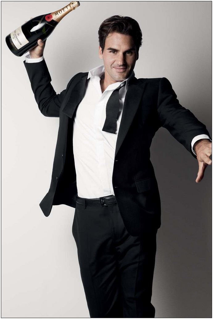 Roger Federer for Moët & Chandon - Generosity - Photographer Patrick Demarchelier [2]