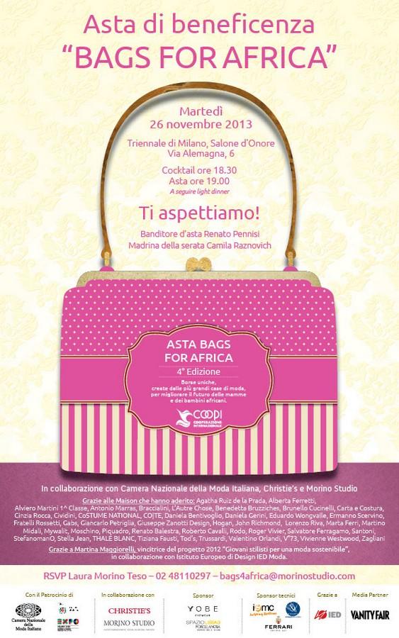 INVITO Bags4Africa - 26 Novembre 2013