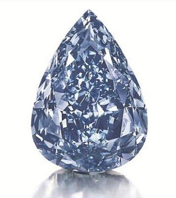 Christie's: THE BLUE, the largest flawless vivid blue diamond in the world.