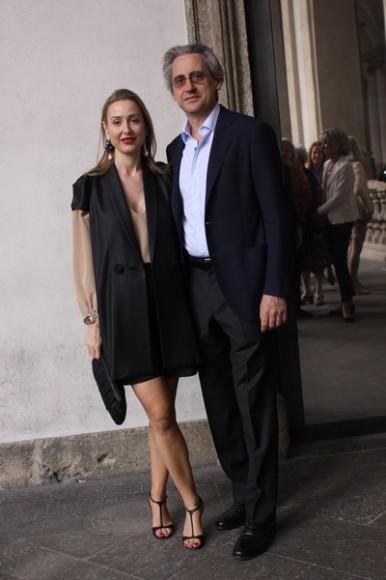06. Civicum - Brera Special Project - 28.05.14 - Michela Bruni Reichlin con il marito Riccardo Gambaccini