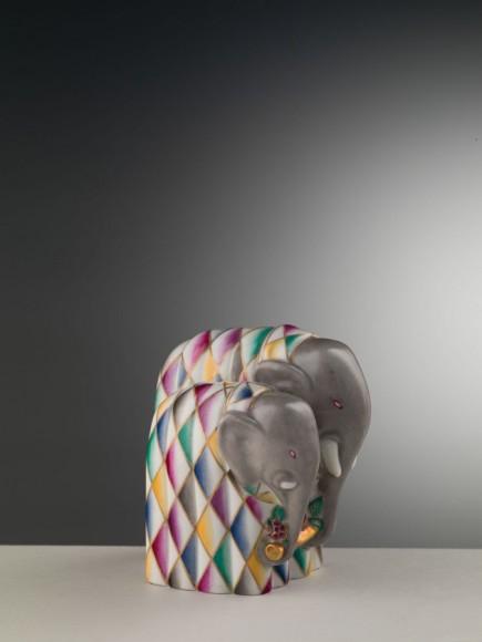 6 Gio Ponti - Elefantino fermalibro con rametto fiorito