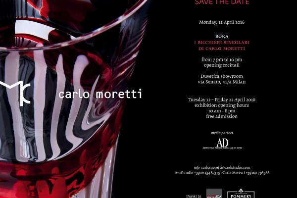 """mostra """"Bora - I bicchieri singolari di Carlo Moretti"""