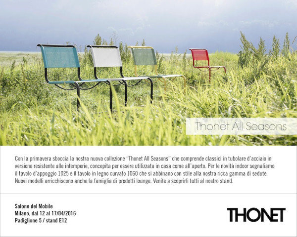 Thonet GmbH  Milan Design Week 2016